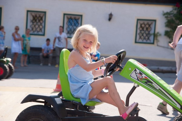 Child on the go-kart
