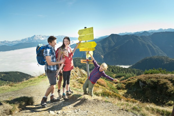 Hiking in the Flachau mountains